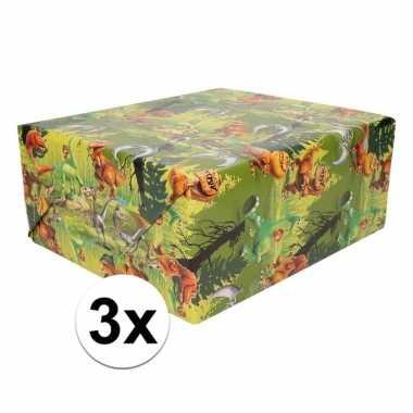 3x disney dino the good dinosaur 200 x 70 cm cadeaupapier op rol prij