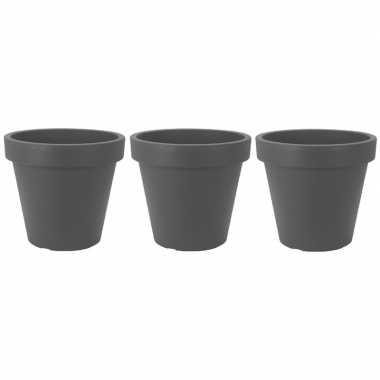3x donker grijze plantenpot 50 cm prijs