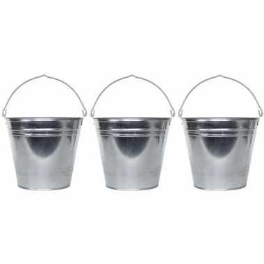 3x drankemmers 9 liter van zink prijs