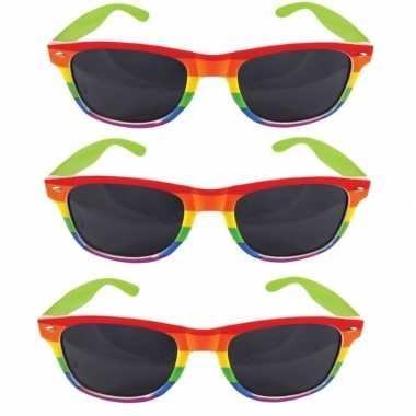 3x gay pride feest bril voor volwassenen prijs