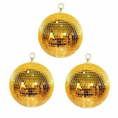 3x gouden discobal 30 cm prijs