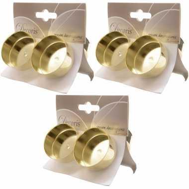 3x gouden waxinelichthouders 4 stuks prijs