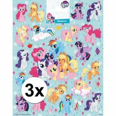 3x grote vellen met my little pony stickers prijs