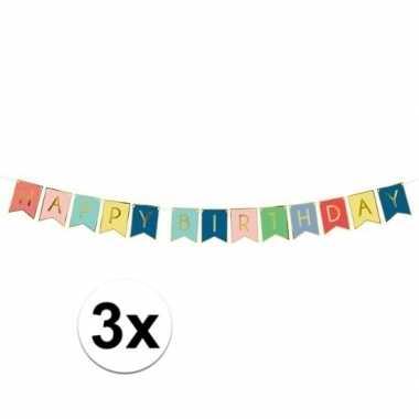 3x happy birthday feest slinger 175 cm prijs
