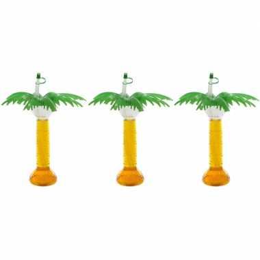 3x hawaii drinkbeker palmboom 500 ml prijs