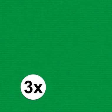 3x kaftpapier groen 70 x 200 cm kraftpapier prijs