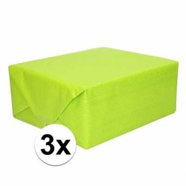 3x kaftpapier lime groen 70 x 200 cm kraftpapier prijs