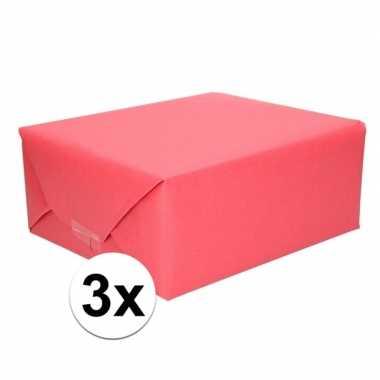 3x kaftpapier rood 70 x 200 cm kraftpapier prijs