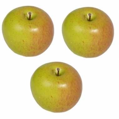 3x kunst fruit appels 8 cm prijs
