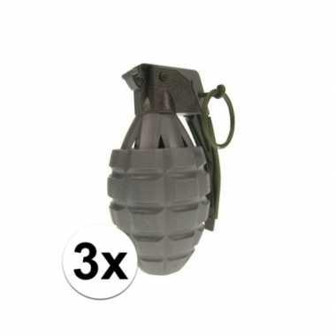 3x leger speelgoed handgranaat prijs
