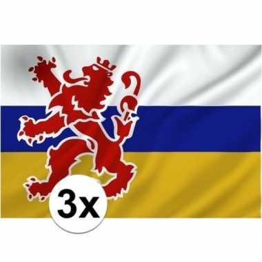 3x limburgse vlaggen prijs