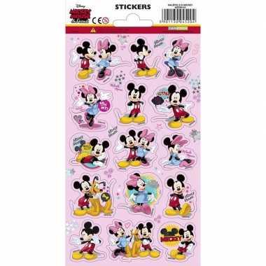 3x mickey en minnie mouse stickervellen prijs