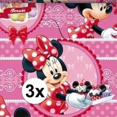 3x minnie mouse cupcake geschenkpapier prijs