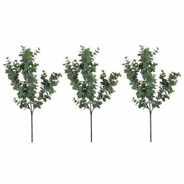 3x nep planten eucalyptus kunstbloemen takken 65 cm decoratie prijs