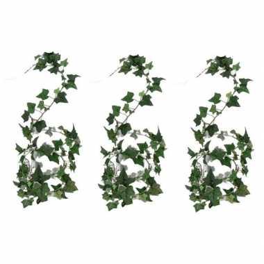 3x nep planten groene hedera helix klimop kunstplanten 180 cm prijs