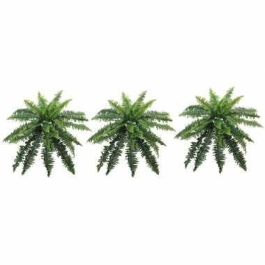 3x nep planten groene varen binnenplant, kunstplanten 70 cm prijs