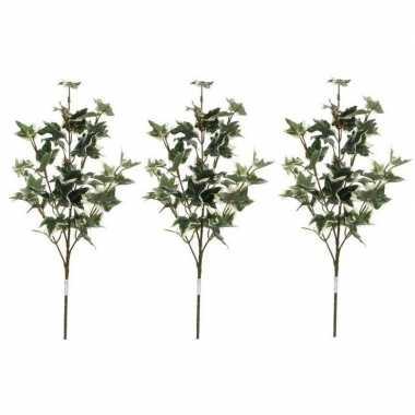 3x nep planten hedera klimop kunstbloemen takken 50 cm decoratie prij