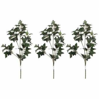 3x nep planten hedera klimop kunstbloemen takken 55 cm decoratie prij