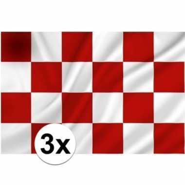 3x noord brabantse vlaggen prijs