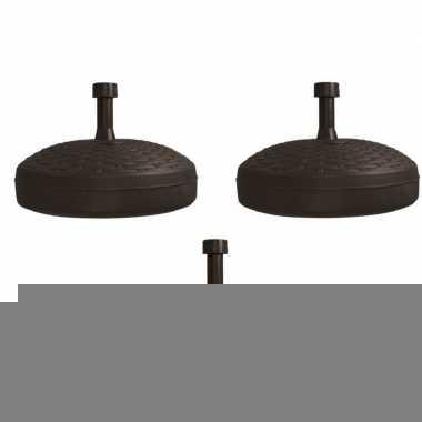 3x parasolstandaard zwart rond platic prijs