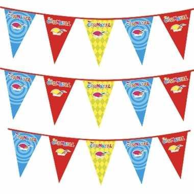 3x plastic carnaval vlaggenlijnen prijs