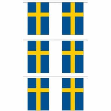 3x stoffen vlaggenlijnen zweden 3 meter prijs