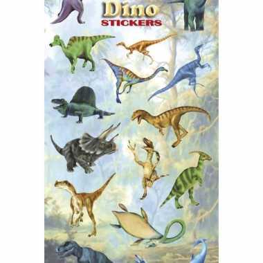 3x stuks poezie album stickers vellen dinosaurus prijs
