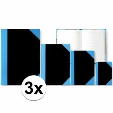 3x stuks schriften/notitieboekjes a5 formaat harde kaft prijs