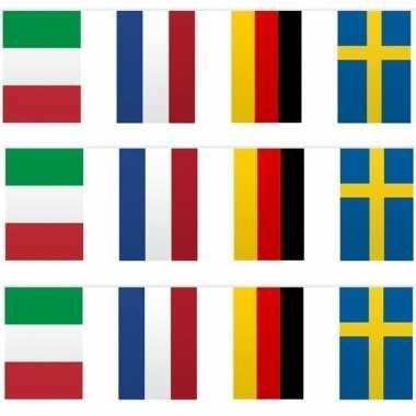 3x vlaggetjeslijn europa 10 meter prijs