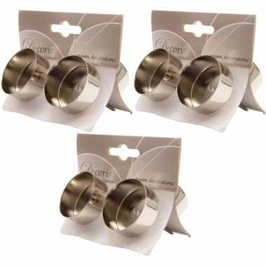3x zilveren waxinelichthouders 4 stuks prijs