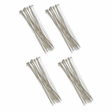 400x kabelbinders tie-ribs wit 3,6 x 200 mm prijs