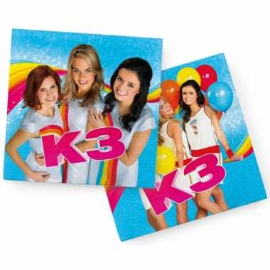 40x k3 feest servetten blauw 33 x 33 cm kinderverjaardag prijs