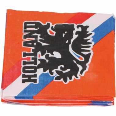 40x oranje holland feest servetten 33 x 33 cm ek/wk prijs