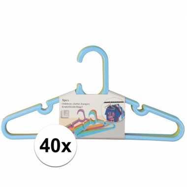40x plastic kinder kledinghangers prijs