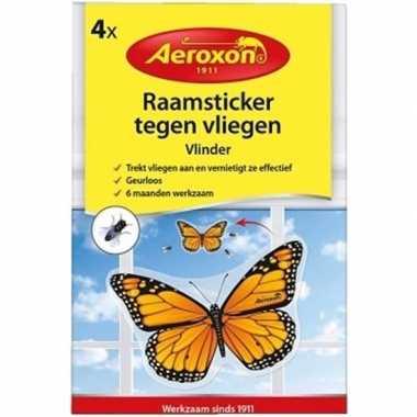 4x aeroxon vliegenvanger vlinder stickers prijs