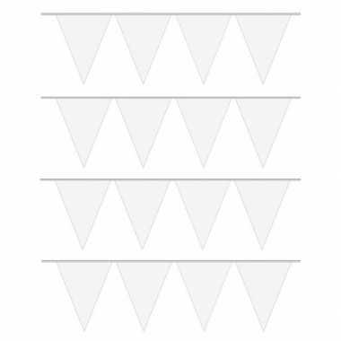4x carnaval vlaggenlijn wit 10 meter prijs