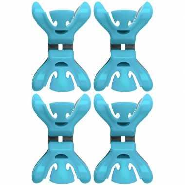 4x feestversiering ophangen klemmen blauw prijs