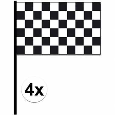 4x finish zwaaivlaggetjes autoracing prijs