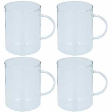 4x glazen voor thee 400 ml prijs
