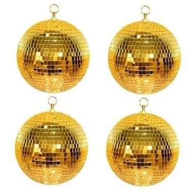 4x gouden discobal 30 cm prijs