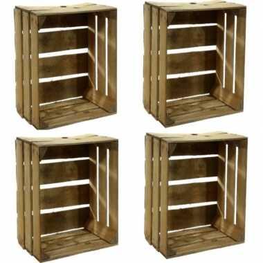 4x houten fruitkistje 30 x 50 x 40 cm prijs