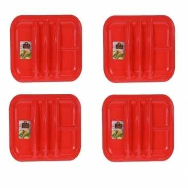 4x rood taco bord 5-vaks 26 cm prijs