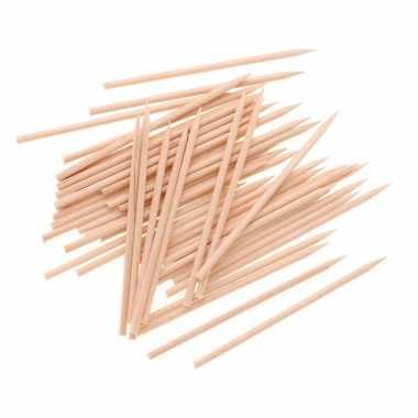 50 houten knutsel sateprikkerstokjes 25 cm prijs