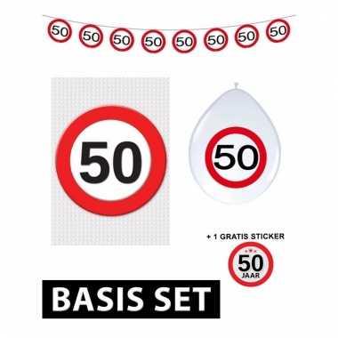 50 Jaar Verjaardag Versiering Set Basic Stopbord Prijs Blogshot Nl