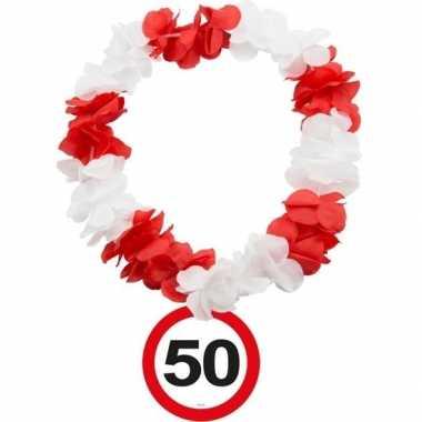 50 jaar verkeersbord hawaiikrans prijs