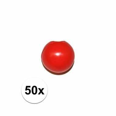 50x rode clowns neus/neuzen zonder elastiek prijs