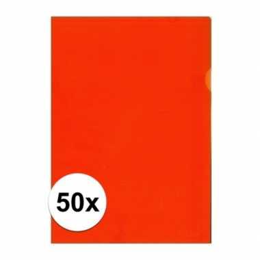 50x tekeningen opbergmap a4 oranje prijs