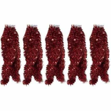 5x folie slingers rood 270 x 12 cm prijs