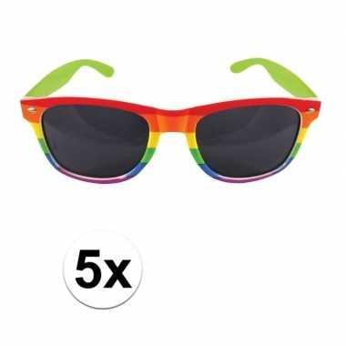 5x gay pride feest bril voor volwassenen prijs