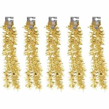 5x gouden folieslingers grof 180 cm prijs